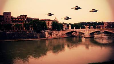 Star Wars Photograph - Ufo Rome by Raphael Terra