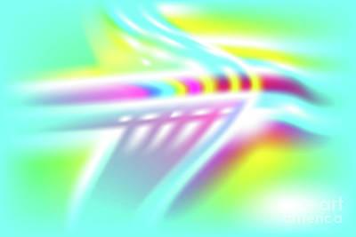 Wall Art - Digital Art - Ufo - Abstract Art Print On Canvas - Digital Art - Fine Art Print - Decorative Wal by Ron Labryzz