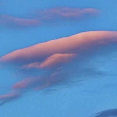 Skylines Wall Art - Photograph - Ufo Shape Cloud #clouds #cloudcape by Emmanuel Varnas