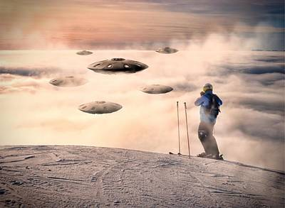 Ufo Sighting By Raphael Terra Art Print by Raphael Terra