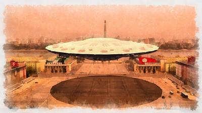 Flying Saucers Painting - Ufo State by Esoterica Art Agency