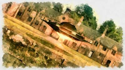 Paranormal Painting - Ufo Stately Home by Esoterica Art Agency