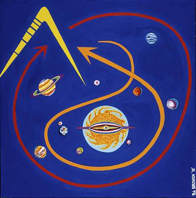 Painting - Ufo Universe by Robert SORENSEN