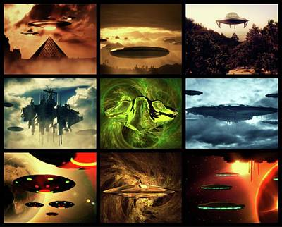 Paranormal Digital Art - Ufo's by Raphael Terra