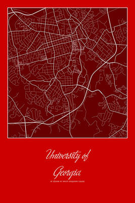 Uga Campus Map Printable.Campus Map Prints Page 2 Of 2 Fine Art America