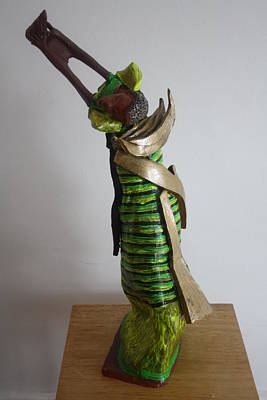 Sculpture - Uganda Dancer by Gloria Ssali