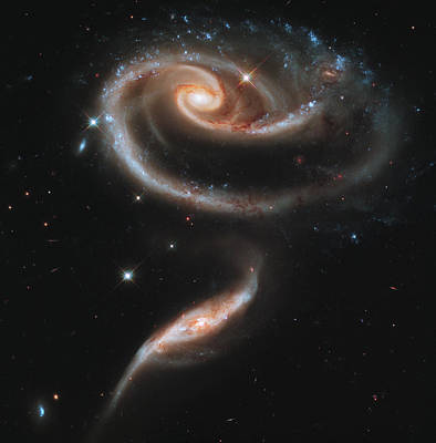 Photograph - Ugc 1810 And Ugc 1813 In Arp 273 by NASA and the European Space Agency