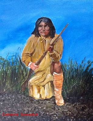 Native Americans Painting - Geronimo by Catherine Swerediuk