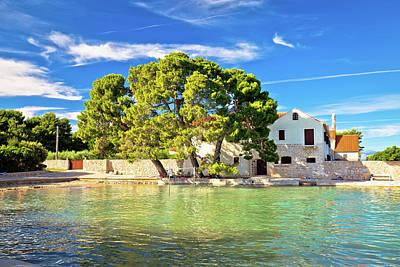 Photograph - Ugljan Village Idyllic Island Beach And Old Architecture by Brch Photography