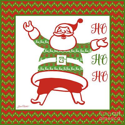 Ugly Christmas Sweater Santa-b Art Print by Jean Plout