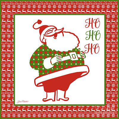 Ugly Christmas Sweater Santa-d Art Print by Jean Plout