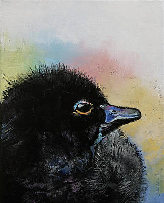 Impasto Oil Painting - Ugly Duckling by Michael Creese
