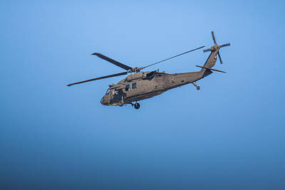 Photograph - Uh-60 Blackhawk Over Boston 2 by Brian MacLean