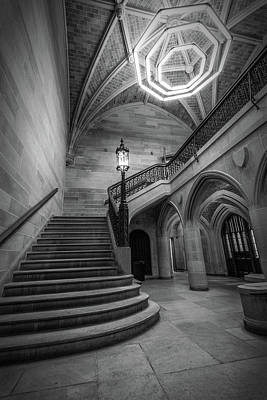 Potter School Photograph - Saieh Hall Staircase At Uic by Mike Burgquist