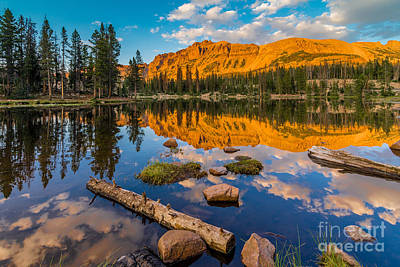 Photograph - Uinta Mountains Sunset - Hayden Peak - Butterfly Lake - Utah by Gary Whitton