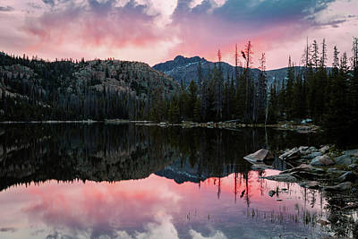 Photograph - Uinta Sunrise Reflection by Johnny Adolphson