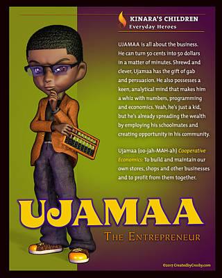 Wall Art - Digital Art - Ujamaa The Entrepreneur by Darryl Crosby