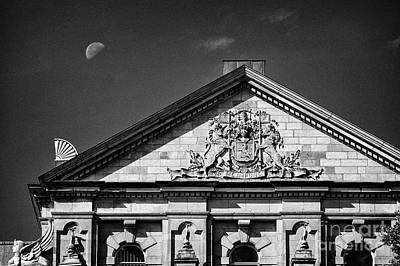 uk coat of arms and architectural detail of scottish provident building in Belfast Northern Ireland  Art Print by Joe Fox