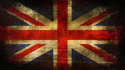 Uk Flag Art Print by Brett Pfister