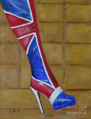 Painting - Uk Kinky Boot by Laurel Best
