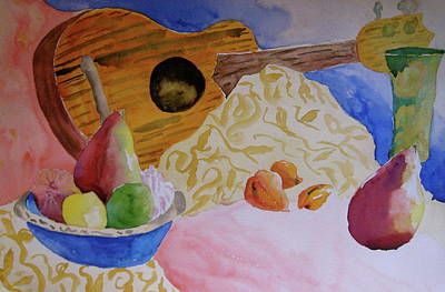 Art Print featuring the painting Ukelele by Beverley Harper Tinsley