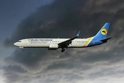 Airways Photograph - Ukraine International Airlines Boeing 737-9kv by Nichola Denny