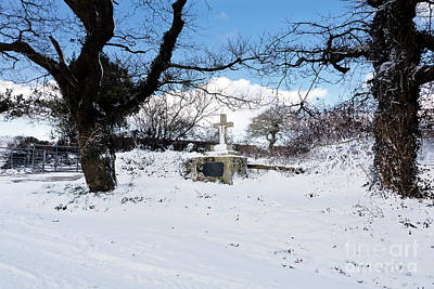 Photograph - Ukrainian Cross Mylor Bridge In The Snow by Terri Waters