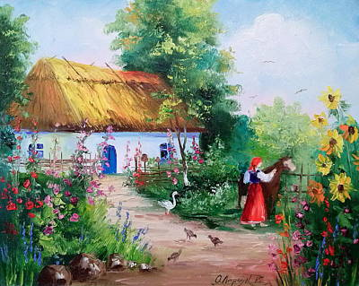 Ukrainian House Print by Olha Darchuk