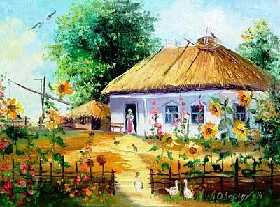 Ukrainian Hut Art Print