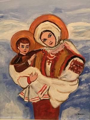 Painting - Ukrainian Madonna And Child by Denice Palanuk Wilson