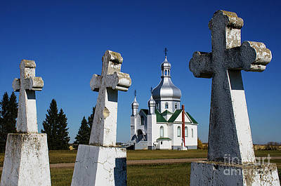 Photograph - Ukrainian Orthodox Church Saskatchewan Canada by Bob Christopher