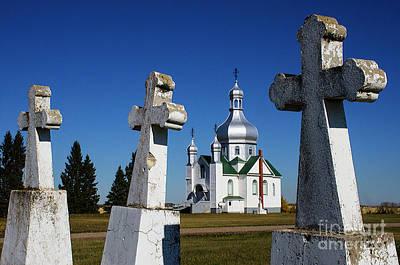 Photograph - Ukrainian Orthodox Church Saskatchewan Canada by Bob Christopher