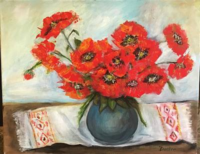 Mixed Media - Ukrainian Poppies by Denice Palanuk Wilson