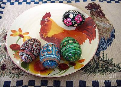 Ukrainian Pysanka Art Print by Jim Sauchyn