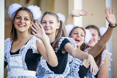 Photograph - Ukrainian Students by Azad Pirayandeh