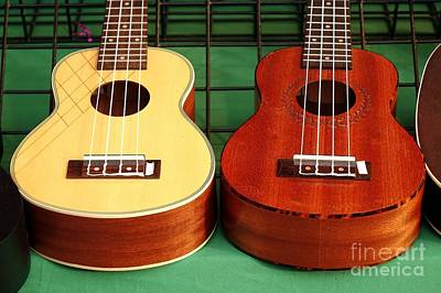 Photograph - Ukulele Instruments For Sale At A Market by Yali Shi