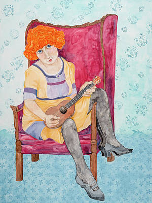 Painting - Ukulele Lady by Georgia Donovan