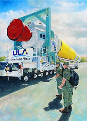 Painting - Ula Rocket by Douglas Castleman