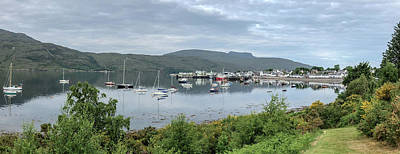 Photograph - Ullapool Harbor Panorama 0826 by Teresa Wilson