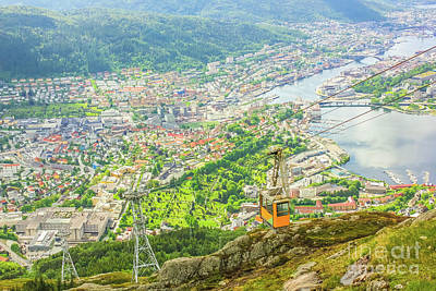 Photograph - Ulriken Mountain Bergen by Benny Marty