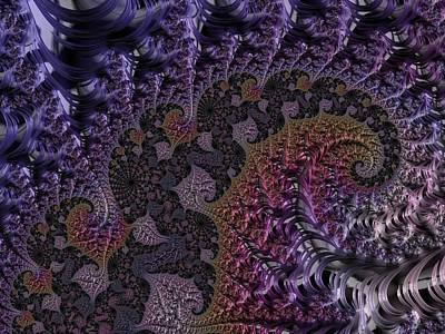 Digital Art - Ultra Leaf Spiral by Paisley O'Farrell