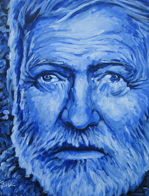 Old Man And The Sea Painting - Ultra-marine by Katharine Turk-Truman