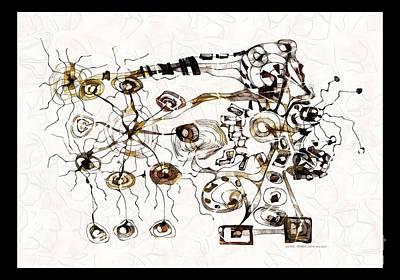 Digital Art - Ultra Microbe 3755 by Marek Lutek