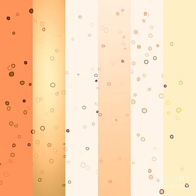 Digital Art - Ultra Modern Stripes Creamy Orange by Rachel Hannah