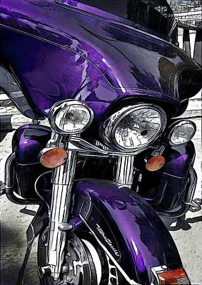 Digital Art - Ultra Purple by David Manlove