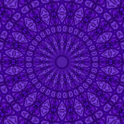 Painting - Ultra Violet And Purple Monotone Kaleidoscope by Tracey Harrington-Simpson