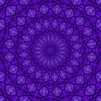 Digital Art - Ultra Violet And Purple Monotone Mandala Pattern by Tracey Harrington-Simpson