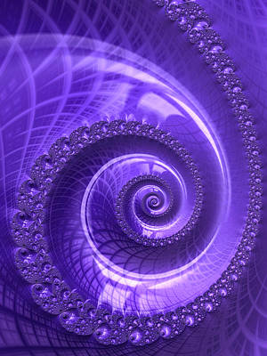 Photograph - Ultra Violet Fractal Spiral by Matthias Hauser