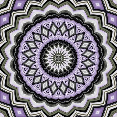 Digital Art - Ultra Violet Silver And Lilac Abstract Geo Pattern by Tracey Harrington-Simpson