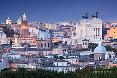 Photograph - Ultra Wide Panorama Of Rome, Italy by Michal Bednarek